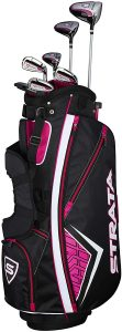 Callaway strata plus womens golf clubs and bag, best for beginners