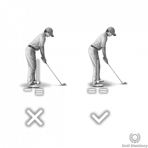 right and wrong golfing posture